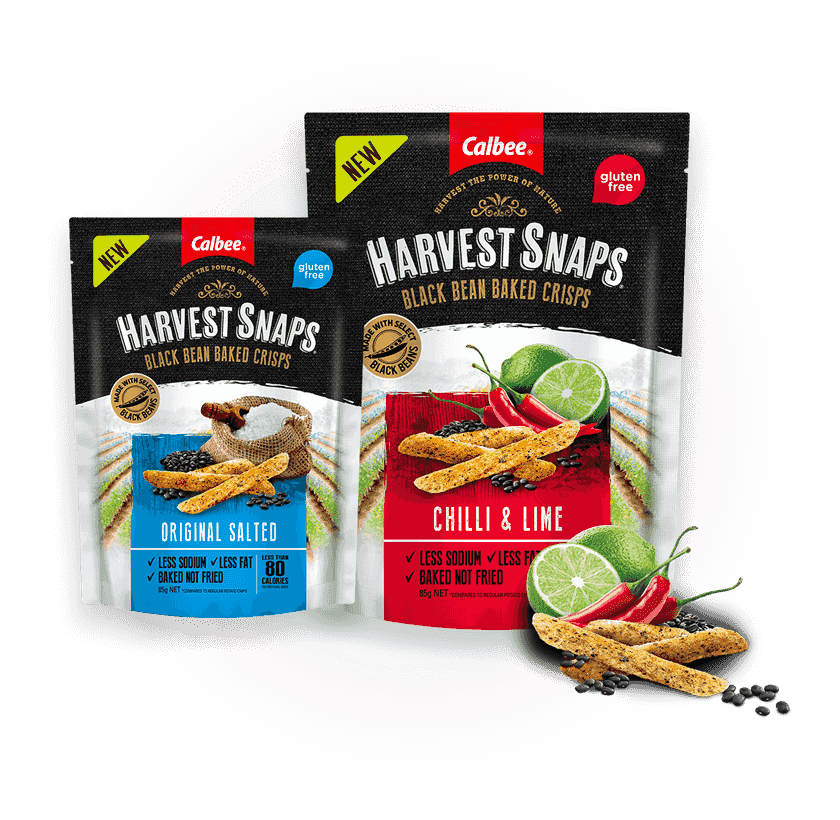 Calbee Australia - Harvest Snaps Black Bean Slider Product