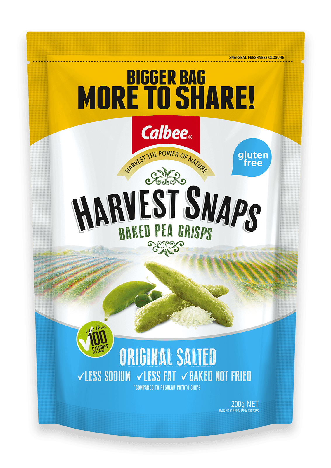 HARVEST SNAPS BAG Original Salted 200g