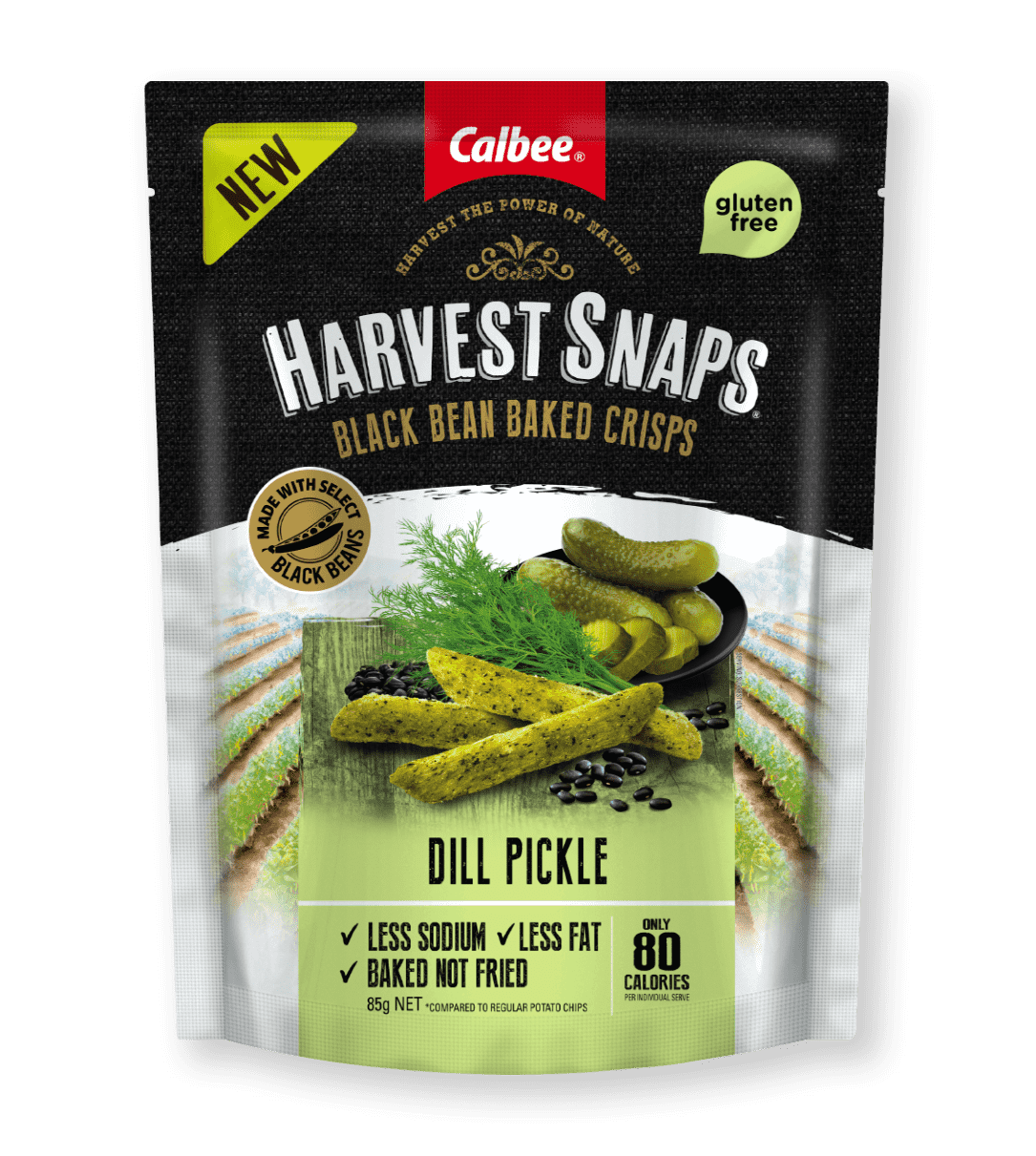 Calbee Australia - Harvest Snaps Dill Pickle Black Bean