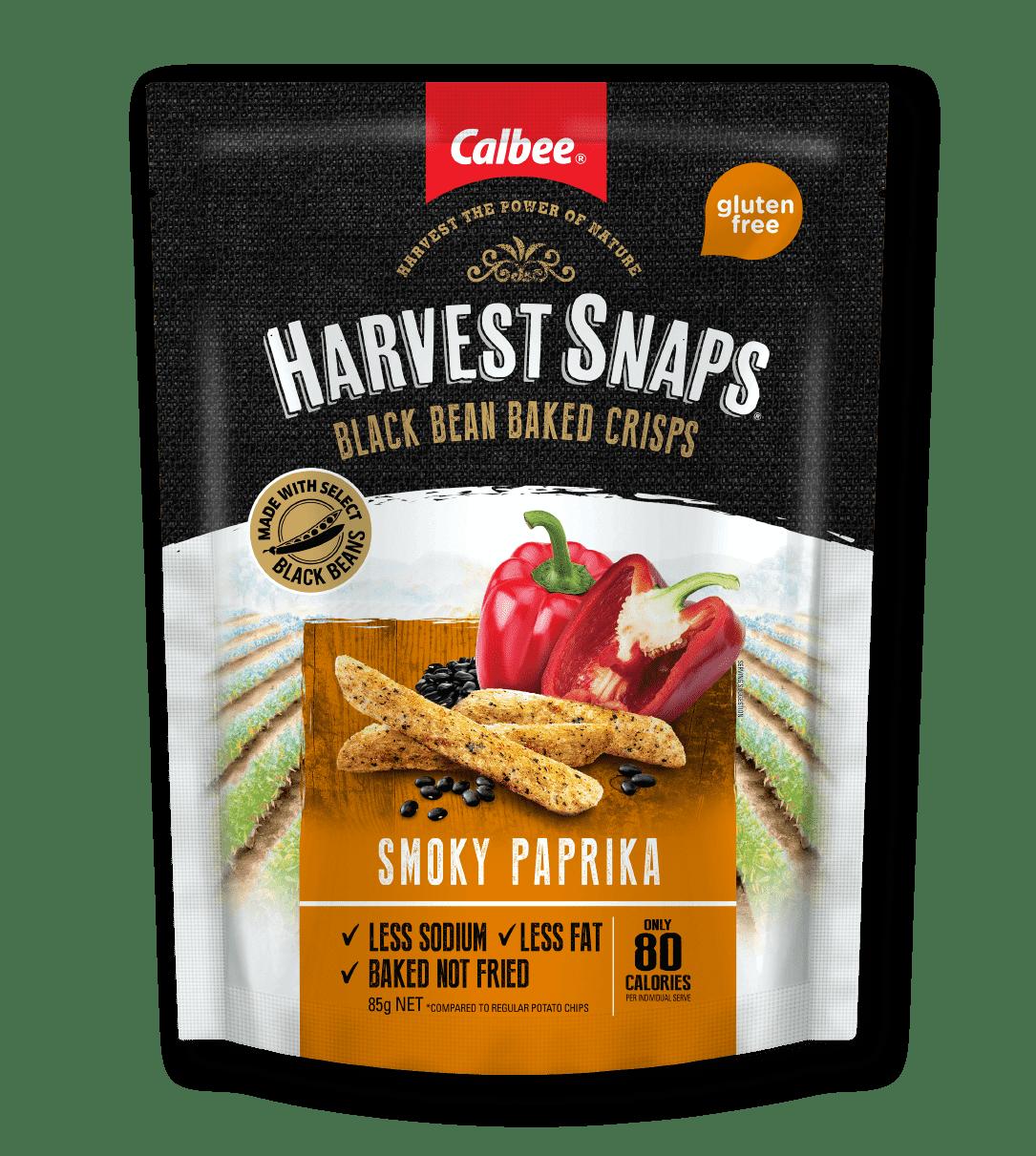 Calbee Australia - Harvest Snaps Smoky Paprika Black Bean