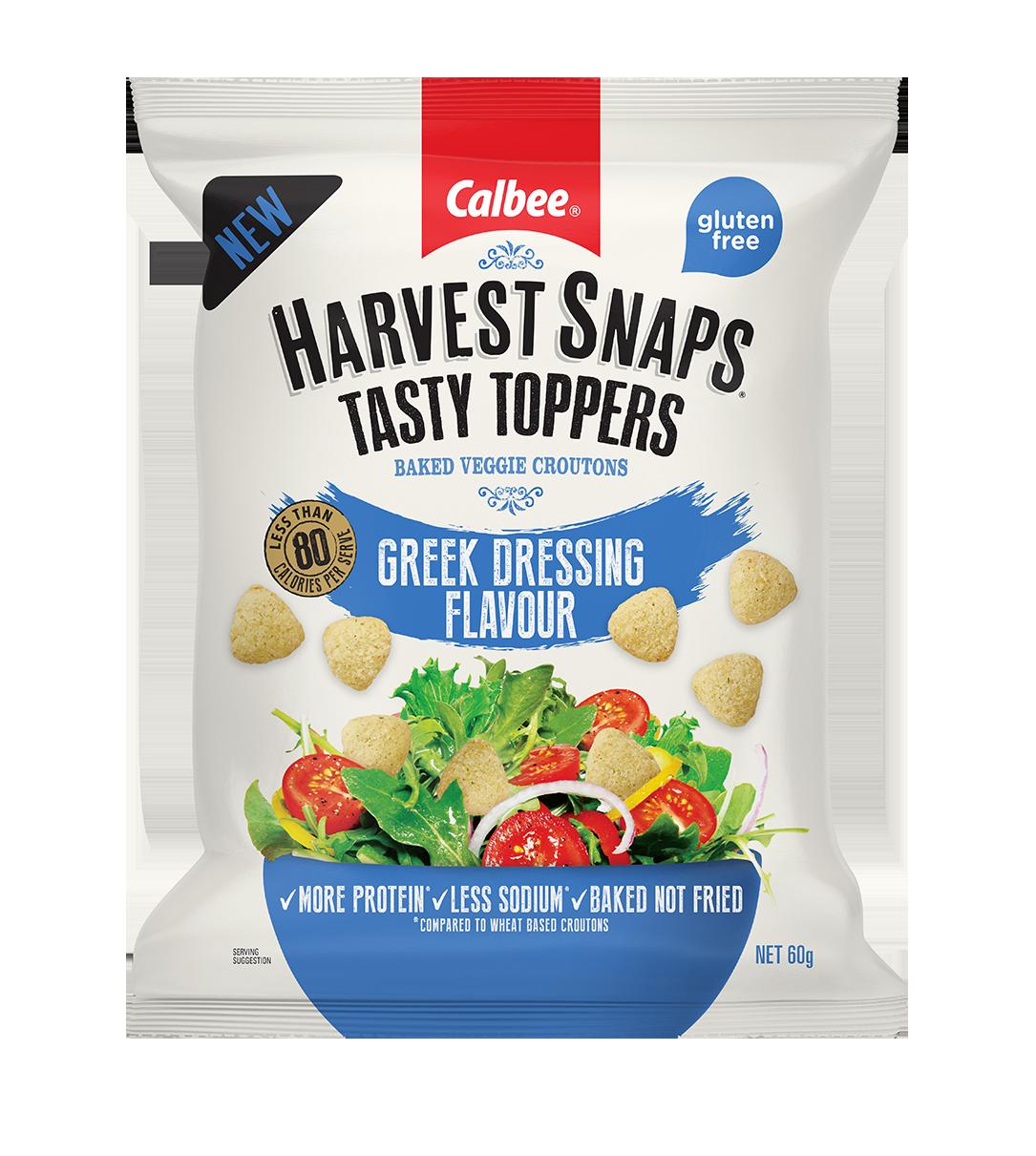 Harvest Snaps Tasty Toppers Greek